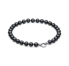 Naszyjnik grafitowy-ciemny perła 12 mm