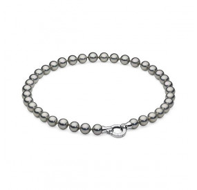 Naszyjnik srebrny-jasny perła 10 mm