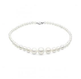 Naszyjnik biały perła 6 - 16 mm