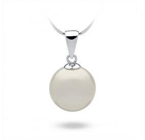 Wisiorek biały perła 14 mm