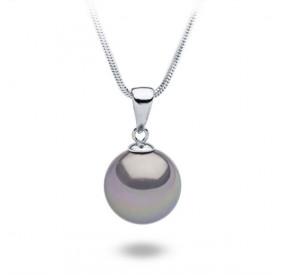 Wisiorek fioletowy-wrzosowy perła 14 mm