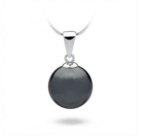 Wisiorek grafitowy-ciemny perła 14 mm