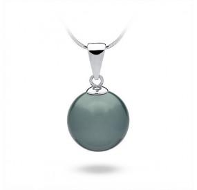 Wisiorek niebieski-morski perła 14 mm