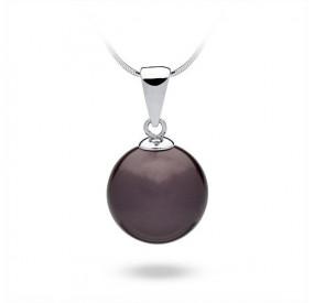 Wisiorek fioletowy-śliwkowy perła 14 mm