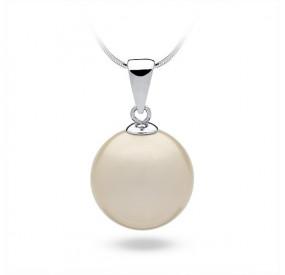 Wisiorek kremowy perła 16 mm