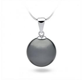 Wisiorek grafitowy-ciemny perła 16 mm