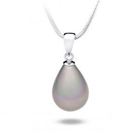 Wisiorek fioletowy-wrzosowy perła 13 x 18 mm