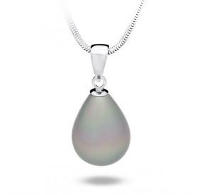 Wisiorek srebrny perła 13 x 18 mm