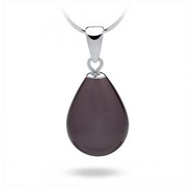 Wisiorek fioletowy-śliwkowy perła 13 x 18 mm