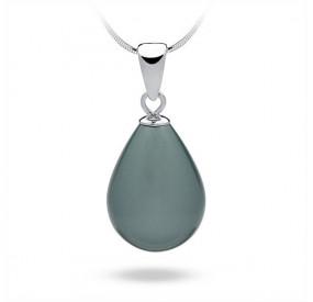 Wisiorek niebieski-morski perła 13 x 18 mm