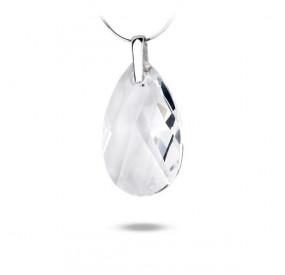 Wisiorek biały kryształ Swarovski 38 mm