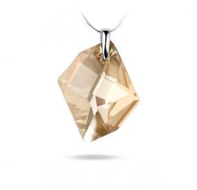 Wisiorek złoty kryształ Swarovski 40 mm