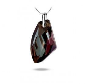 Wisiorek brązowy kryształ Swarovski 39 mm