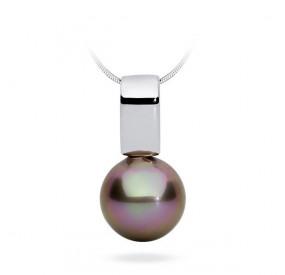 Wisiorek beżowy-cappucino perła 12 mm