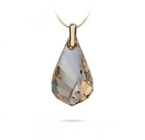 Wisiorek złoty kryształ Swarovski 37 mm