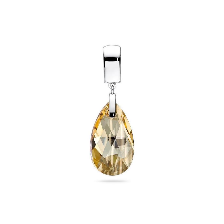 Wisiorek złoty kryształ Swarovski 22 mm