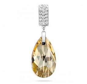 Wisiorek złoty cyrkonie kryształ Swarovski 22 mm