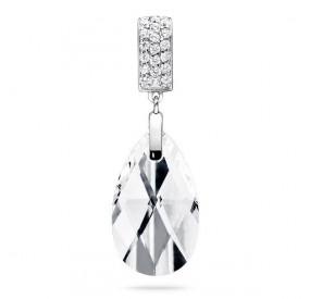 Wisiorek biały cyrkonie kryształ Swarovski 22 mm