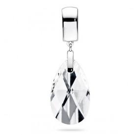 Wisiorek biały kryształ Swarovski 22 mm