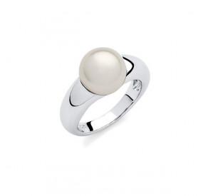 Pierścionek biały perła 10 mm