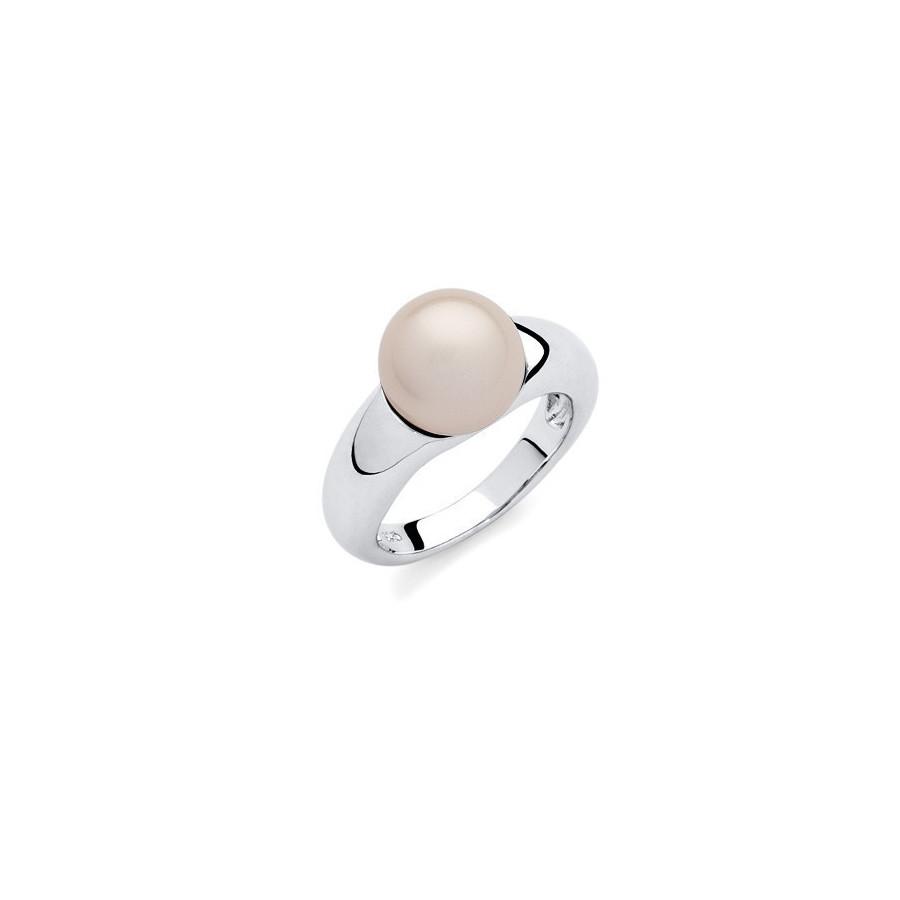 Pierścionek różowy-jasny perła 10 mm