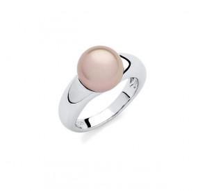 Pierścionek różowy-pudrowy perła 10 mm
