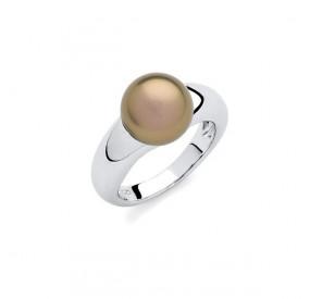 Pierścionek złoty-antyczny perła 10 mm