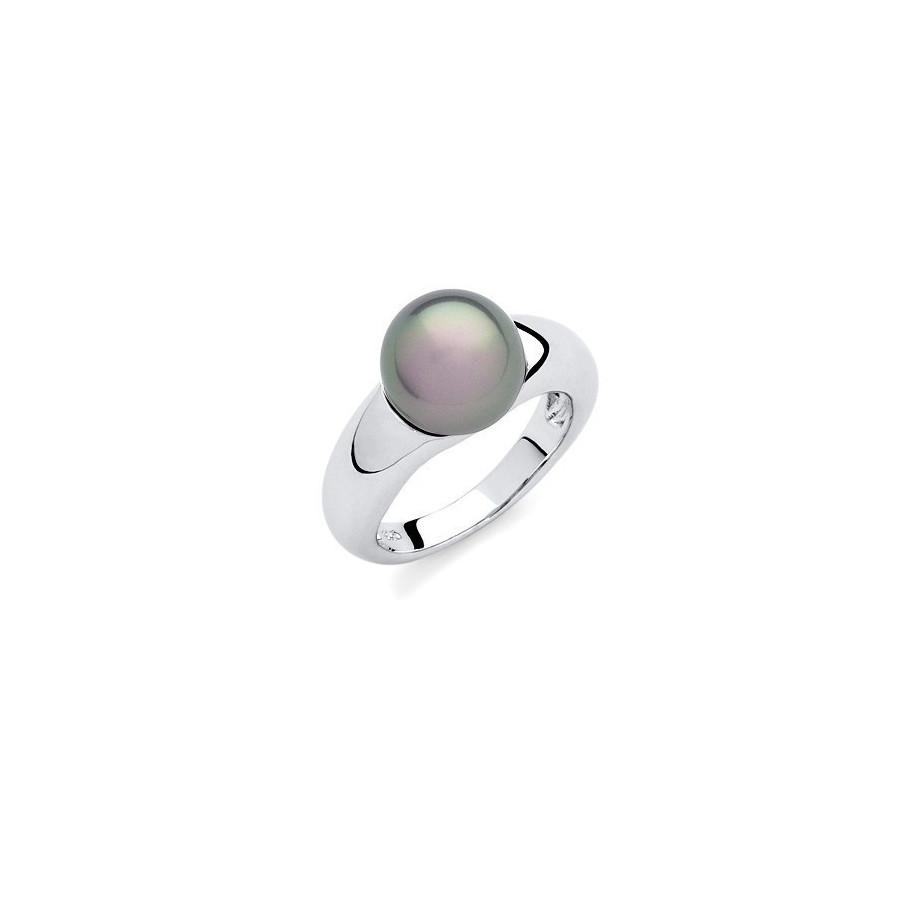 Pierścionek zielony perła 10 mm