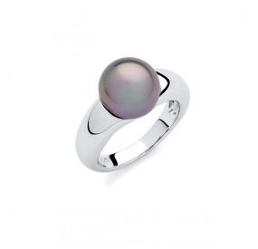 Pierścionek fioletowy-wrzosowy perła 10 mm
