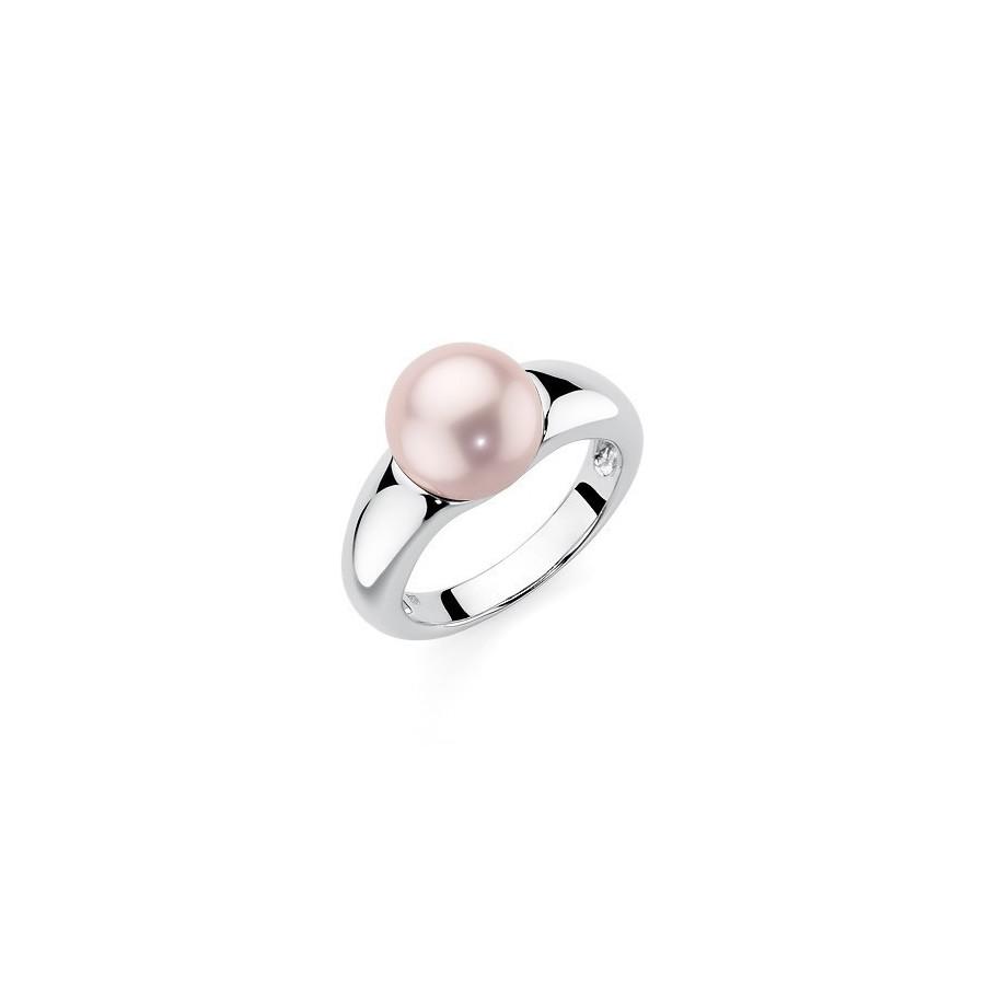 Pierścionek różowy perła 10 mm