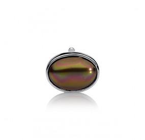Charms 13 x 18 mm brązowy-ciemny perła
