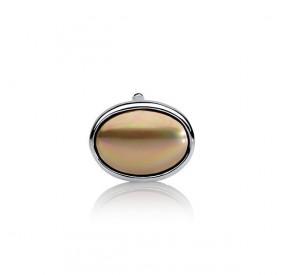 Charms 13 x 18 mm złoty perła