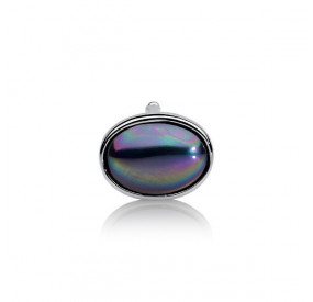 Charms 13 x 18 mm fioletowy-benzynowy perła