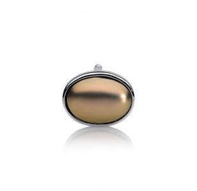 Charms 13 x 18 mm złoty-antyczny perła