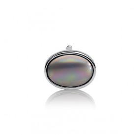 Charms 13 x 18 mm srebrny perła