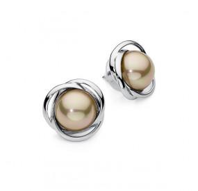 Kolczyki kolor złoty perła 12 mm