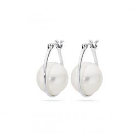 Kolczyki kolor biały perła 12 mm
