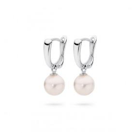 Kolczyki kolor różowy-jasny perła 8 mm