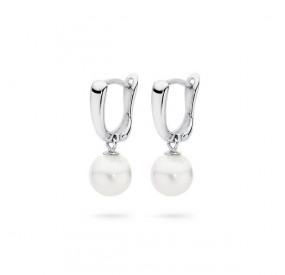 Kolczyki kolor biały perła 8 mm