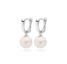 Kolczyki kolor różowy-jasny perła 10 mm