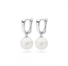 Kolczyki kolor biały perła 10 mm