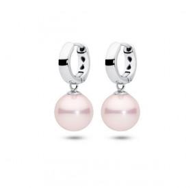 Kolczyki kolor różowy perła 10 mm