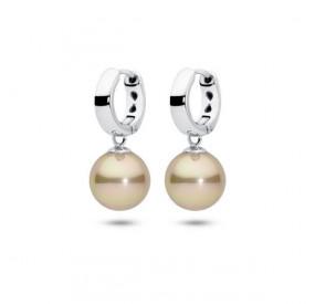 Kolczyki kolor złoty perła 10 mm