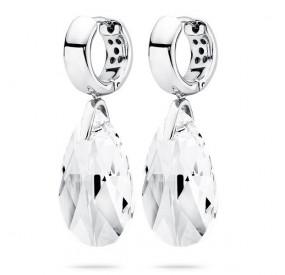 Kolczyki kolor biały kryształ Swarovski 22 mm