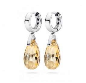Kolczyki kolor złoty kryształ Swarovski 16 mm