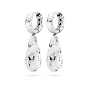 Kolczyki kolor biały kryształ Swarovski 16 mm