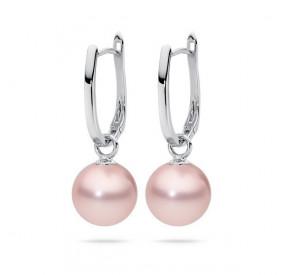 Kolczyki kolor różowy perła 12 mm