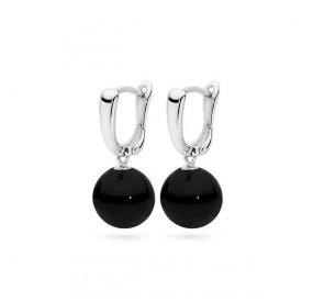 Kolczyki kolor czarny perła 10 mm