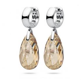 Kolczyki kolor złoty kryształ Swarovski 22 mm