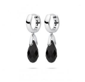 Kolczyki kolor czarny kryształ Swarovski 12 mm